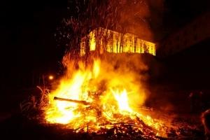 Osterfeuer beim RH Murau
