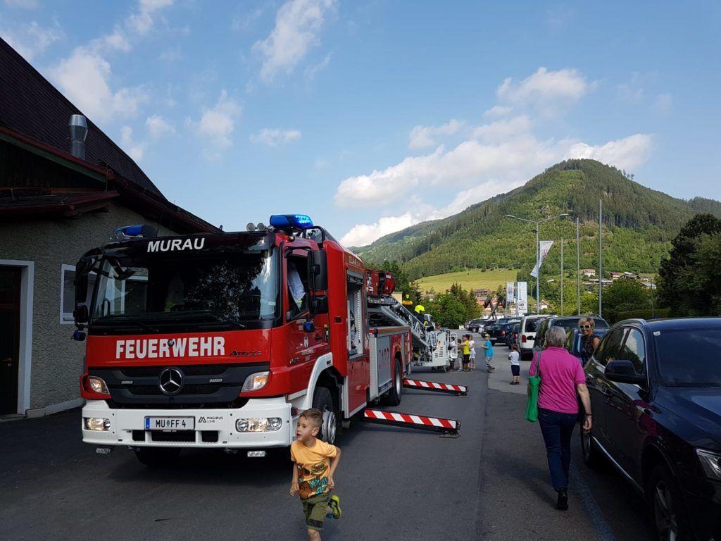 Evakuierungsübung Kindergarten Murau