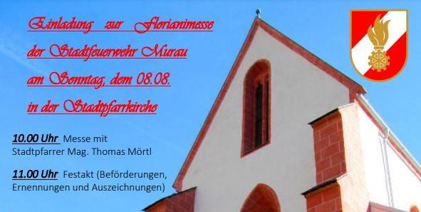 Einladung zum Florianigottesdienst